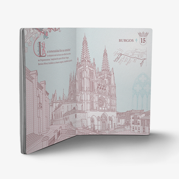 ilustracion catedral de Burgos - Pasaporte del camino